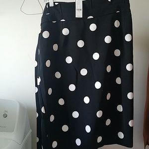 Polka a dot pencil skirt